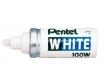 Merkpen Wit Pentel 100W
