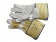 Werkhandschoenen rundnerfleder katoen (per paar)